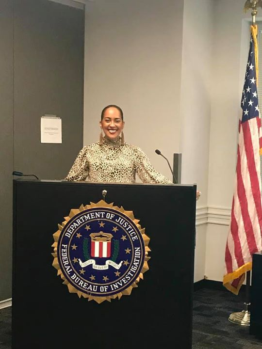 Nancy @ the FBI Headquarters in NYC