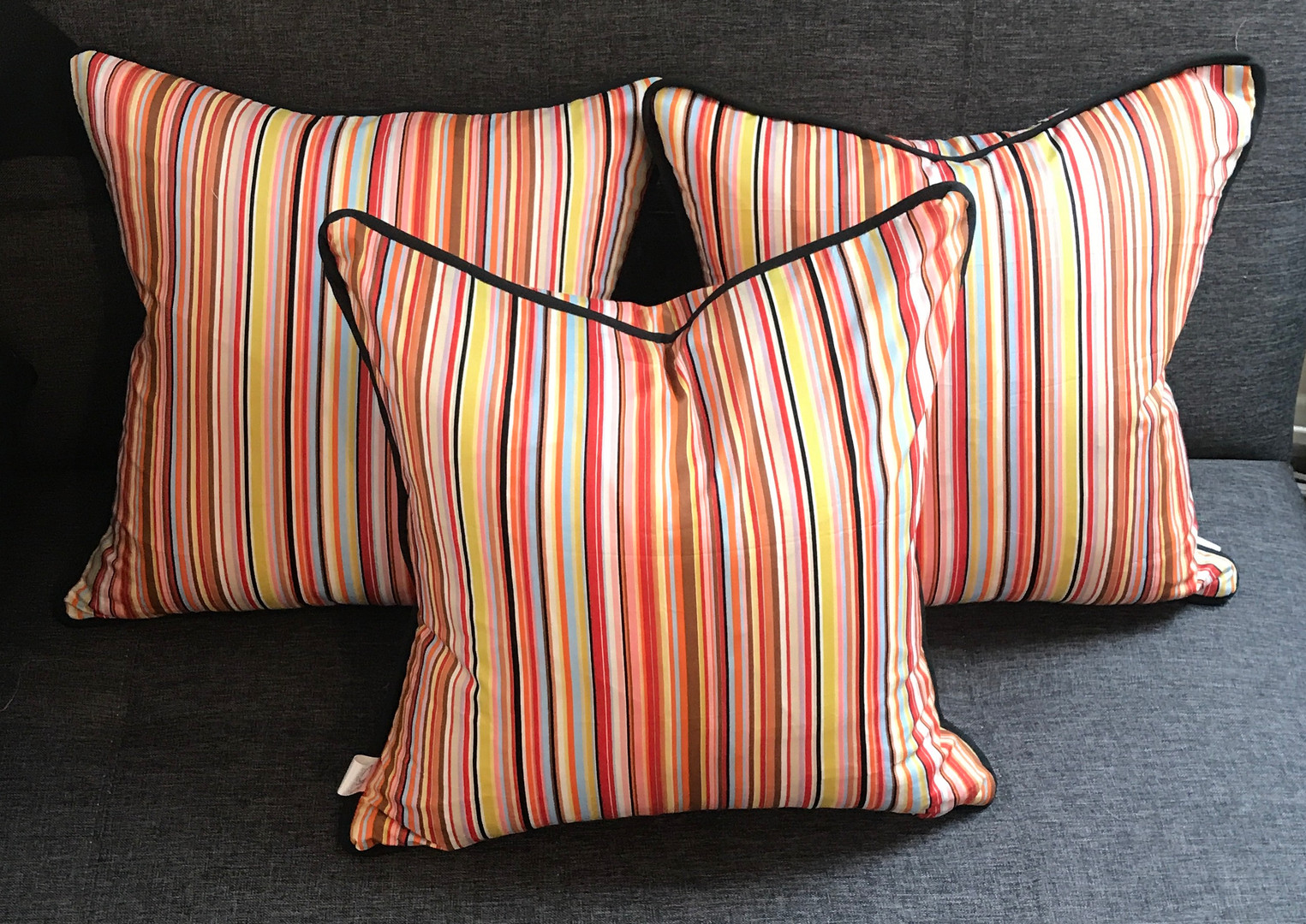 Paul Smith Inspired Piped Cushion