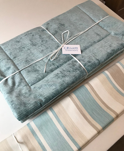 Roman Blind and complementary Bed Throw Panel