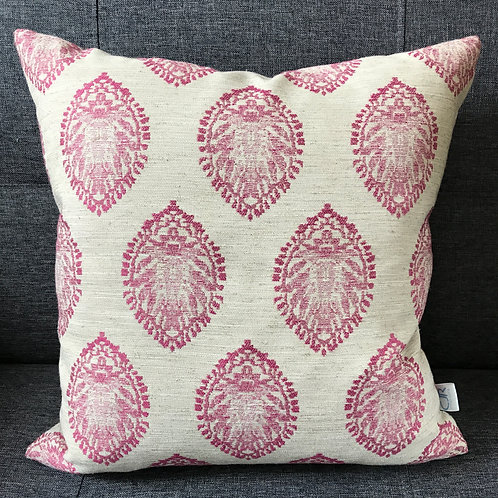 Raspberry Leaf Cushion - Square