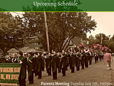 Marching Band Summer Update