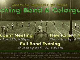 Marching Band and Colorguard Spring Meetings