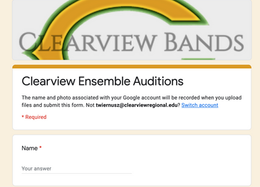 Ensemble Audition Modifications