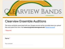 Ensemble Audition Modifications