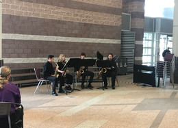 Sax Quartet Performs at State Conference