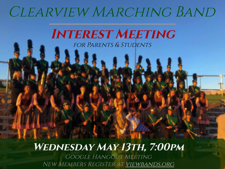 Marching Band & Colorguard Informational Meeting