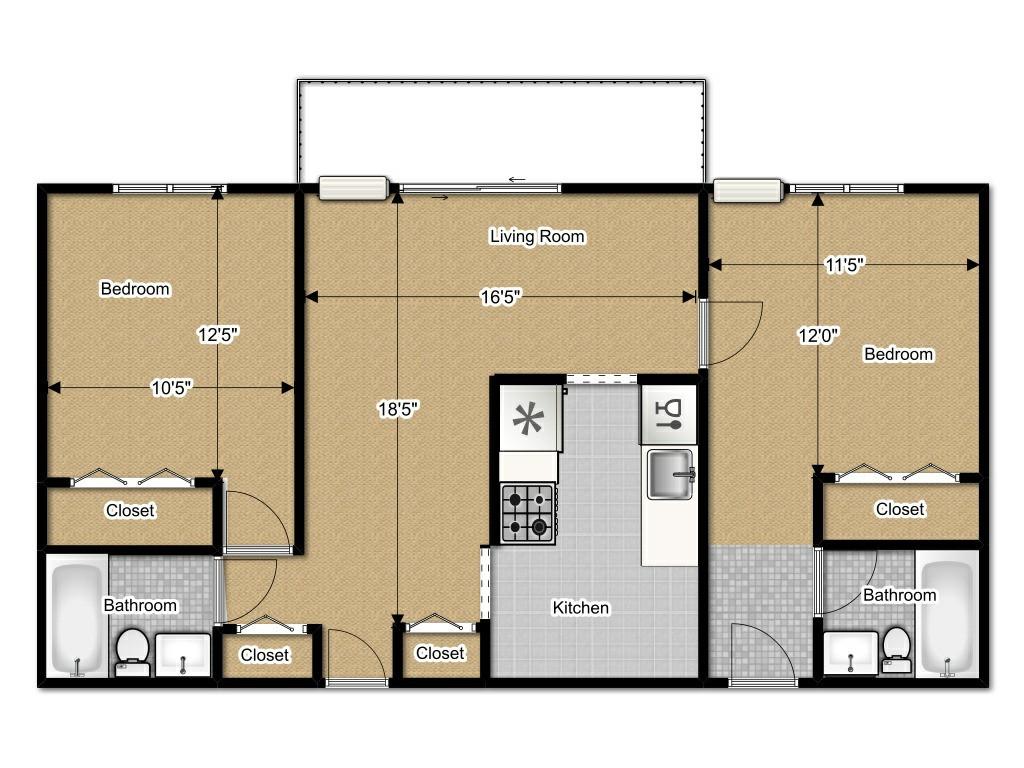 2 bedroom 2