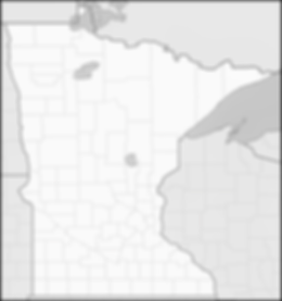 State of Minnesota map for locations