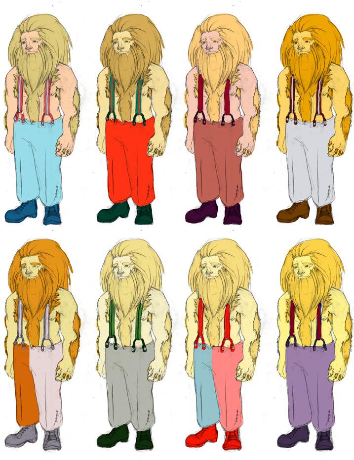 Colour Exploration Lionman