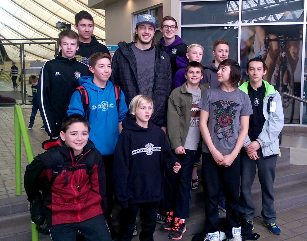 Matt Halajian alongside the next generation of National Team hopefuls from Fraser Valley.