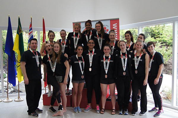 Fraser Valley's women came away with the bronze at Western championships (Photo credit: Mohit McLaren)