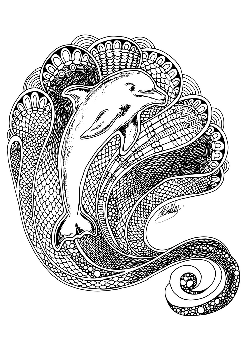 Dolphin Tangle Lineart A4 (1).png