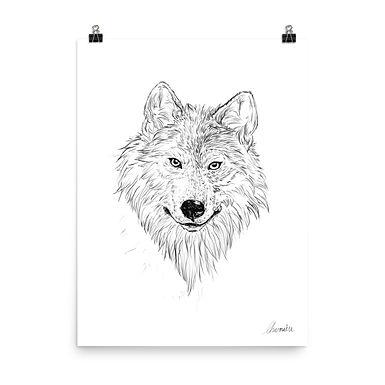 Wolf Sketch Giclée Art Print