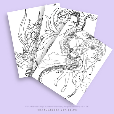 Lineart of Charmaine Bailey Colouring Book Vol2