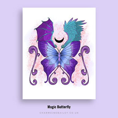 Magic Butterfly Digital Print