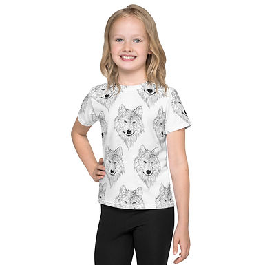 Wolf Sketch Kids T-Shirt