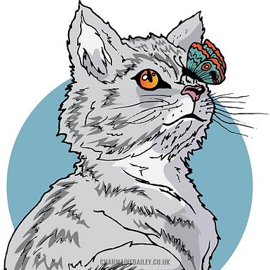 Curious Kitten Print