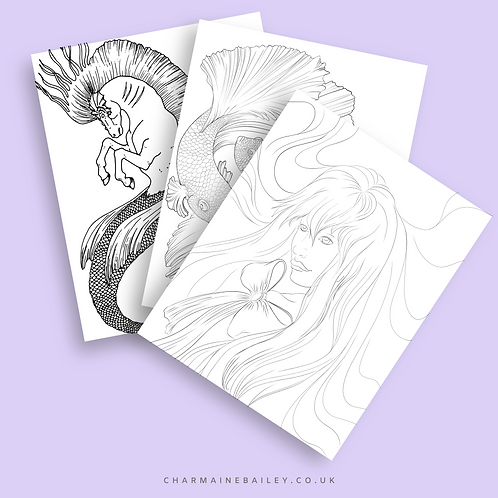 copy of Lineart of Charmaine Bailey Colouring Book Vol2