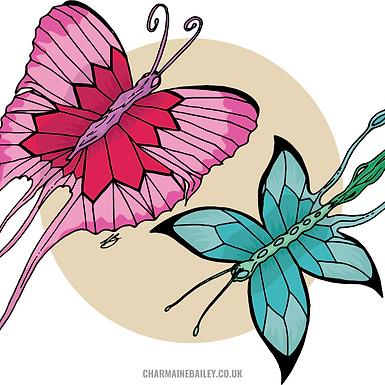 Fantasy Butterflies Print