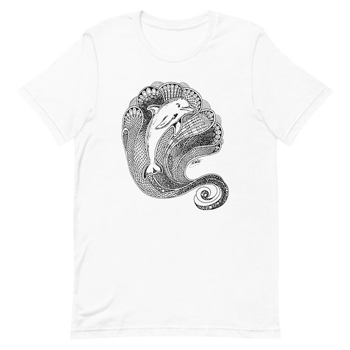 Dolphin Tangle Design Linework Short-Sleeve Unisex T-Shirt