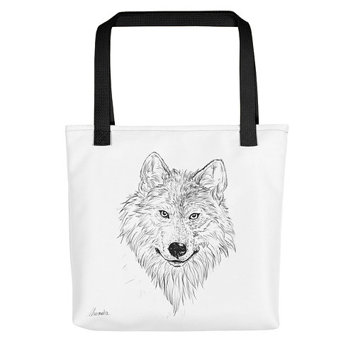 Wolf Sketch Tote bag