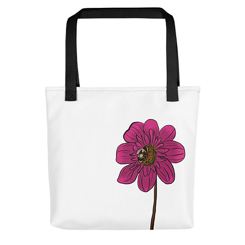 Dahlia and a Bee Tote bag