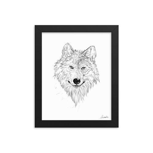 Wolf Sketch FRAMED Giclée Art Print