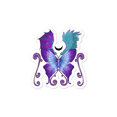 Magic Butterfly Bubble-free sticker