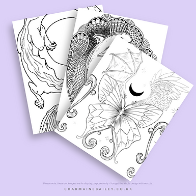 Lineart of Charmaine Bailey Colouring Book Vol 1