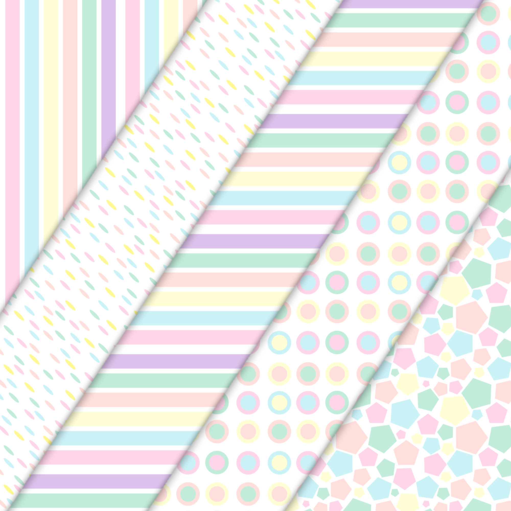 candy colours patterns