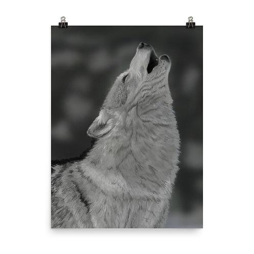 Lone Wolf Giclée Art Print