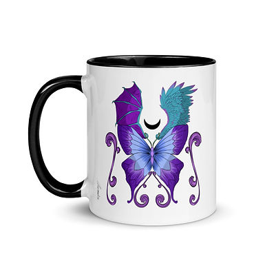 Magic Butterfly Ceramic Mug with Color Inside