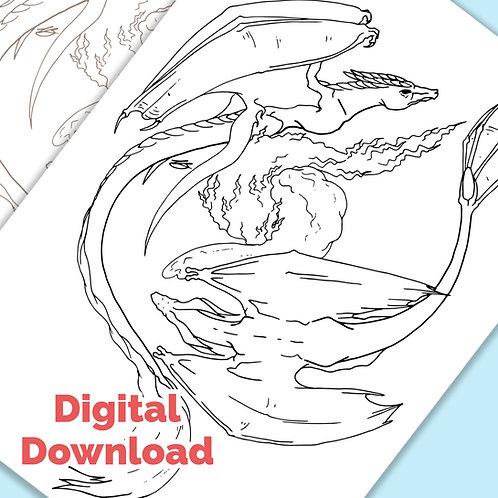 Balance PDF Colouring Page