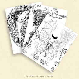Dragon Flight | PDF Colouring Page in Black, Sepia, and Grey
