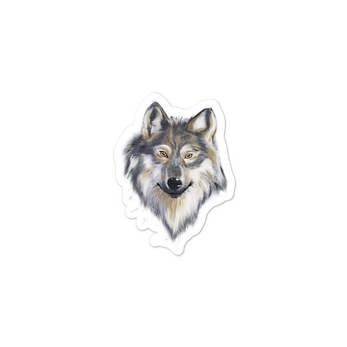 Wolf Bust Painting Vinyl Bubble-free stickers