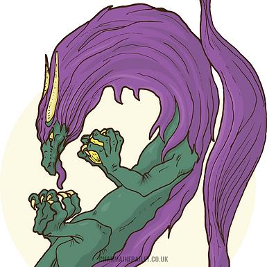 The Gift Dragon Print
