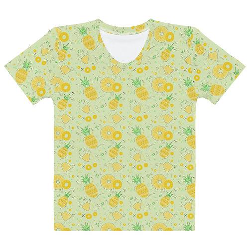 Pineapple All Over Pattern Women's T-shirt