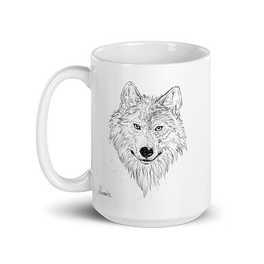 Wolf Ceramic Tea and Coffee Mug