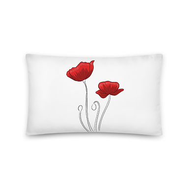Red Poppies Pillow