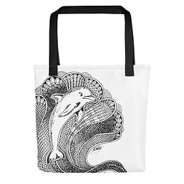 Dolphin Tangle Tote bag