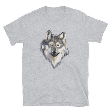 Grey Wolf Short-Sleeve Unisex T-Shirt