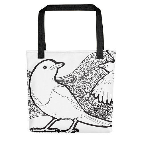 Two Magpies Tangle Tote bag
