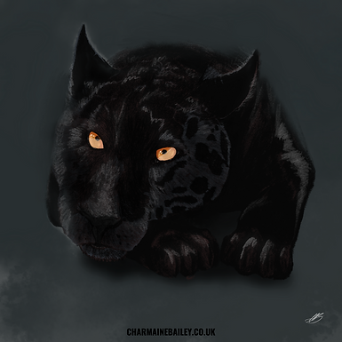 Black Panther - Relaxed Print