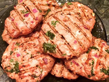 BBQ Season brings on these lovies! - Mediterranean Turkey Burgers