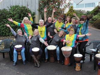 Samba Drumming in Nipples to Kneecaps