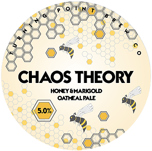 Beer#7: Turning Point, Chaos Theory.  We have a theory, this chaos is going to turn into a festival