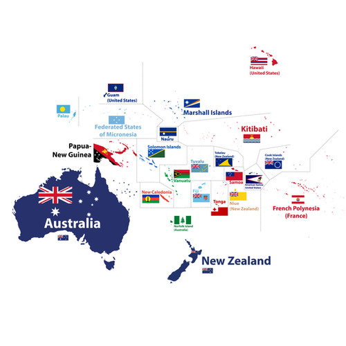 Australia and Oceania maps and flags-01.