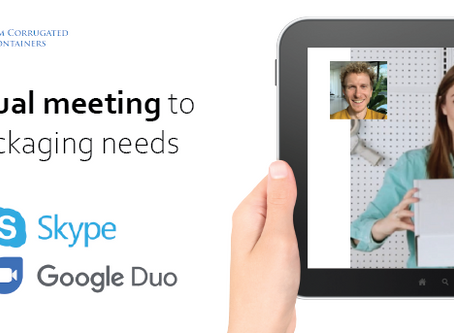 Schedule a virtual meeting to discuss your packaging needs