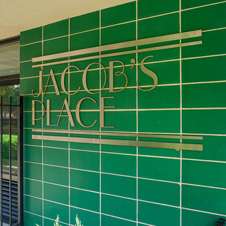 Sign at entrance to Jacob's Place