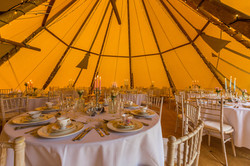 Wedding Tipi - Round Tables